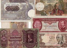 LOTTO BANCONOTE  EUROPA -  CIRCOLATE  VF+XF - Lots & Kiloware - Banknotes