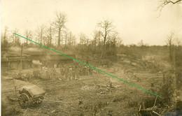 14-18.WWI - Carte Photo Allemande - Frontfoto Lager Argonnen ? XVIII Reservekorps IR168 - Guerra 1914-18