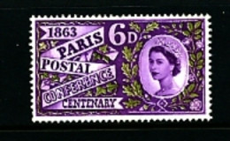 GREAT BRITAIN - 1963  PARIS  PHOSPHOR  MINT NH - Unused Stamps
