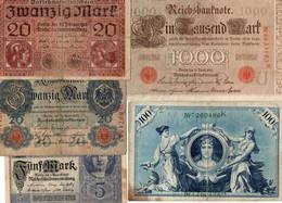 LOTTO BANCONOTE  EUROPA - GERMANIA-   CIRCOLATE - Lots & Kiloware - Banknotes