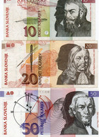 SLOVENIA  10,20,50 TOLARJEV 1992 P-11,12,13a   Xf+unc - Slovenia