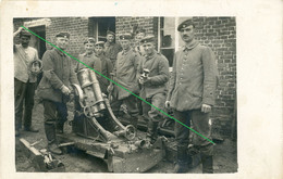 14-18.WWI - Carte Photo Allemande - Frontfoto  Soldaten  Minenwerfer Granatwerfer Technik - Guerra 1914-18