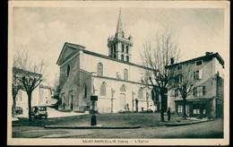 CPA SAINT-MARCELLIN - L'Eglise Animée - Non Circulée - Saint-Marcellin
