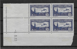 France Poste Aérienne N°6 - Bloc De 4 Coin Daté - 1 Timbre Et Bdf * Avec Charnière Sinon ** Sans Charnière - TB - 1927-1959 Nuevos
