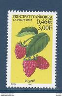 ⭐ Andorre Français - YT N° 547 - Neuf Sans Charnière - 2001 ⭐ - Neufs