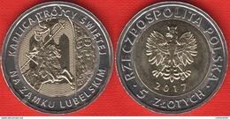 "Poland 5 Zlotych 2017 ""Holy Trinity Chapel At Lublin Castle"" BiMetallic UNC - Polonia"