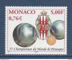⭐ Monaco - YT N° 2303 - Neuf Sans Charnière - 2001 ⭐ - Unused Stamps