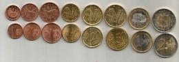 Lot Complet De 8 Pièces En EURO (€) De La Principauté D'Andorre (état Neuf) - Andorra