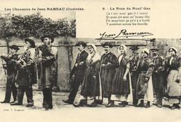 Les Chansons De Jean RAMEAU  Illustrées  8 Les Noces De Nout' Gas Recto Verso - Musica