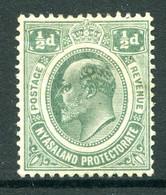 Nyasaland 1908-11 KEVII - Wmk. Mult. Crown CA - ½d Green HM (SG 73) - Nyassaland (1907-1953)