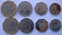 SIERRA LEONE SERIE 4 MONETE CON BIMETALLICA 500-100-50-10 LEONES FDC UNC - Sierra Leone