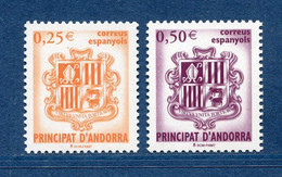 ⭐ Andorre Espagnol - YT N° 275 Et 276 ** - Neuf Sans Charnière - 2002 ⭐ - Nuevos