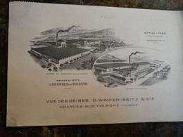 Usines Walter Seitz, Obliteration Perforée WS 1924 - Granges Sur Vologne