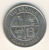 ICELAND 1987: 10 Kronur, KM 29 - Iceland