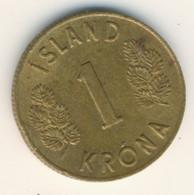 ICELAND 1966: 1 Krona, KM 12a - Iceland