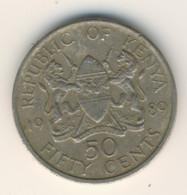 KENYA 1989: 50 Cents, KM 19 - Kenya
