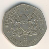 KENYA 1985: 5 Shillings, KM 23 - Kenya