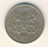 KENYA 1968: 50 Cents, KM 4 - Kenya