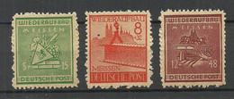 Germany DEUTSCHLAND 1945 Meissen Michel 35 A & 37  38 A (*) Local Issue - Ohne Zuordnung
