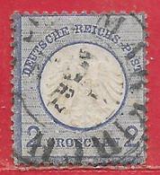Allemagne N°5 2g Bleu (petit écusson) 1872 O - Oblitérés