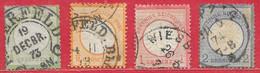 Allemagne N°14 à/to 17 Gros écusson 1872 O - Oblitérés