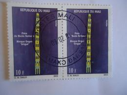 MALI   USED STAMPS  PAIR  MUSEUM 2002   POSTMARK - Mali (1959-...)