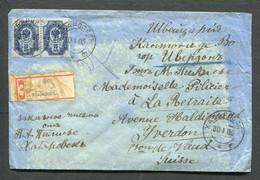 4784 RUSSIA Far East SIBERIA Khabarovsk Cancel 1906 Registered Cover To Switzerland Yverdon Vaud - Cartas