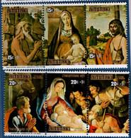 Aitutaki 1975 Christmas Paintings MNH 2104.0503 Madonna Pietro Lorenzetti, Rogier Van Der Weijden, Montagna, Guido Reni - Unclassified