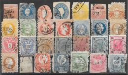 Autriche Classiques (& Hongrie) Lot De 28tp 1850-1904 O - Usati