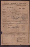 """Récépissé """" Chemin De Fer D'Orléans, Petite Vitesse """" 1918 - Unclassified"""