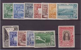PEROU : PA . N° 16/28 * . TB .1936/37 . ( CATALOGUE YVERT ) . - Peru