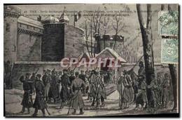 CPA Militaria Guerre De De 1870 Ham Sortie Des Troupes Allemandes Du Chateau - Andere Oorlogen