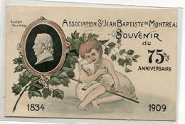 CANADA MONTREAL  Carte RARE   Souvenir  75 Em Anniversaire 1909 Association St Jean Baptiste   écrite En 1909 TiD08 2021 - Montreal