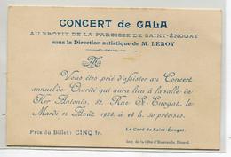 35 DINARD ST SAINT ENOGAT Invitation Concert De Gala Au Profit De La Paroisse  Mardi 12 Aout 1924  D08 2021 - Dinard