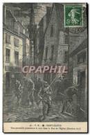CPA Militaria Guerre De 1870 Saint Cloud Une Patrouille Prussienne La Nuit Dans La Rue De L&#39eglis - Andere Oorlogen