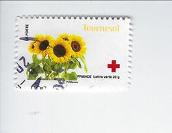Au Profit De La Croix-Rouge 150ème Anniversaire De La Croix-Rouge Adhésif N° 992 Oblitéré - Luchtpost