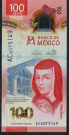 MEXICO NLP 100 PESOS 2020 = 8 MAY 2020  #AC COMMEMORATIVE UNC. - Mexico