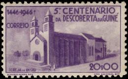 Portuguese Guinea 1946 20E Church At Bissau Lightly Mounted Mint. - Guinea Portoghese