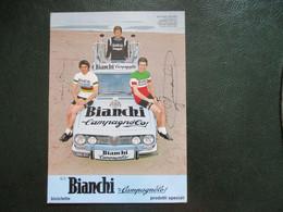 Cyclisme Photo Publicitaire Bianchi Basso Gimondi Adorni - Cycling
