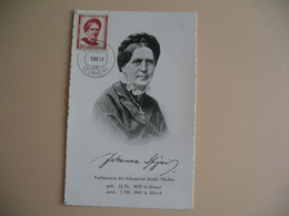 Carte Maximum Suisse  1951 Johanna Spyri  Pro Joventute  Cachet Hirzel  Zürich - Maximumkaarten
