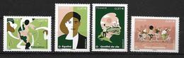 France 2020 -  Yv N° 5424 à 5427 ** - La Terre Et Les Hommes « Le Vivre Ensemble » (du Bloc) - Neufs