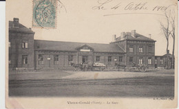 VIEUX-CONDE (59) - La Gare - état Correct - Vieux Conde