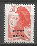 Timbre St Pierre Et Miquelon Neuf **  N 458 - Ungebraucht