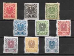 Autriche N°223 à/to 231 1920-21 ** - Ongebruikt