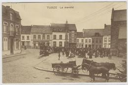 TUBIZE : Le Marché - Très Belle Animation - 1912 - Tubize