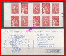 Carnet Les Cent Ans De La Semeuse De Roty - Y&T N° 1511 - Neuf** Non Plié - Uso Corrente