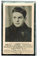 Lot 047 Oorlogsslachtoffer Cambier Albert Spionagedienst Voor Koning En Vaderland Overleden 3 April 1943 Bochum (D) - Devotieprenten