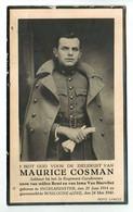 Lot 056 Oorlogsslachtoffer Soldaat Cosman Maurice Ingelmunster Gesneuveld 24 Mei 1940 Boulogne Aan Zee - Devotieprenten