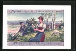 Künstler-AK Philipp + Kramer Nr.: Darstellung Schubertlieder - Maidenröslein - Otros Ilustradores