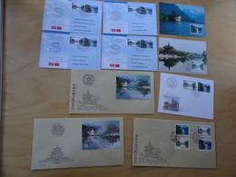 Schweiz Michel 1667/68+Block 28 Lot Mit 11 Belegen China Parallel Ausgabe (16326) - Covers & Documents